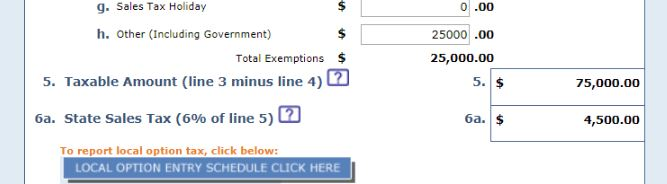 "screenshot of ""taxable amount"" form field"
